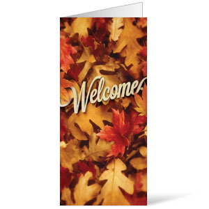 Welcome Leaf Pile 11 x 17 Bulletins