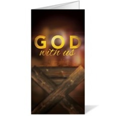 God With Us Manger Bulletin