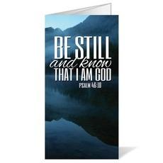 Scenery Scripture Psalm 46:10 Bulletin