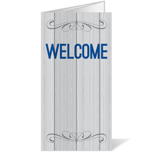 Painted Wood Welcome Bulletins