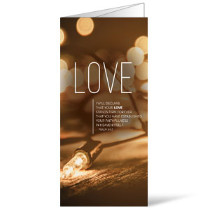 Lights of Advent Love Bulletins