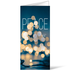 Lights of Advent Peace Bulletins