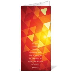 Orange Glow Triangles Jer 29:11 Bulletins