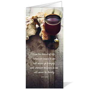 Rustic Communion Bulletins