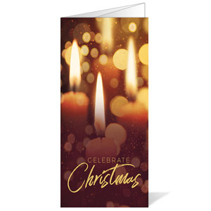 Celebrate Christmas Candles Bulletins