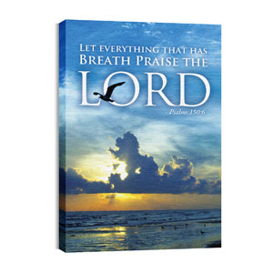 Breath Praise Lord 24in x 36in Canvas Prints