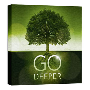 Go Deeper Roots Wall Art