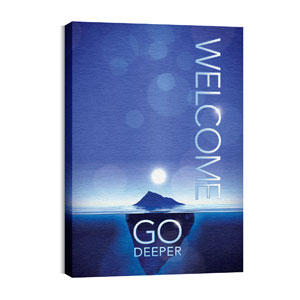 Deeper Iceberg Welcome Wall Art