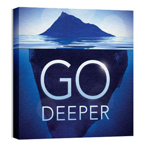 Deeper Iceberg 24 x 24 Canvas Prints