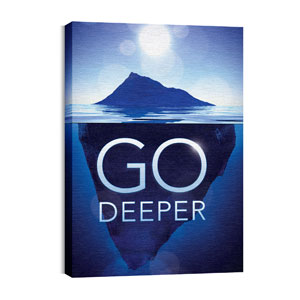 Go Deeper Iceberg 24in x 36in Canvas Prints
