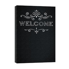 Chalk Welcome Canvas Print