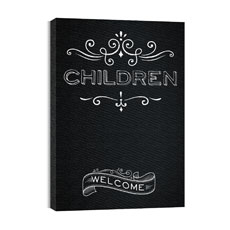 Chalk Children Canvas Print