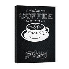 Chalk Coffee Canvas Print