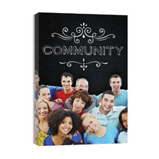 Chalk Community Canvas Print