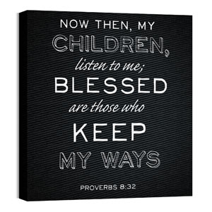 Chalk Prov 8:32 Wall Art