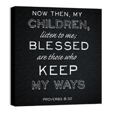 Chalk Prov 8:32 Wall Art