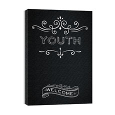 Chalk Youth Canvas Print