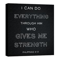 Chalk Phil 4:13 Wall Art
