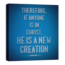 Words 2 Cor 5:17 Wall Art