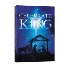 Celebrate the King M Canvas Print