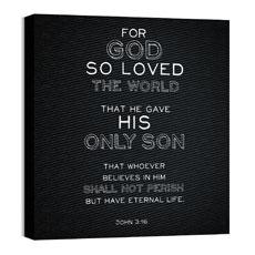 Chalk Jn 3:16 Wall Art