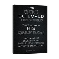 Chalk Jn 3:16 Canvas Print