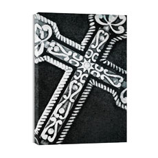 BW Cross Canvas Print