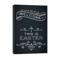 Chalk Easter Canvas Print