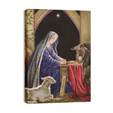 BP Nativity Canvas Print