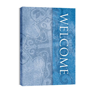 Cross Welcome 24in x 36in Canvas Prints