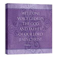 Cross Rom 15:6 Wall Art