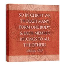 Cross Rom 12:5 Wall Art