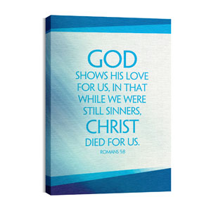 Color Rays Rom 5:8 Wall Art
