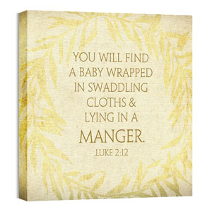 Glad Tidings Gold Wall Art