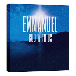 God With Us M 24 x 24 Canvas Prints