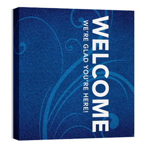 Flourish Welcome 24 x 24 Canvas Prints