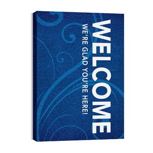 Flourish Welcome 24in x 36in Canvas Prints
