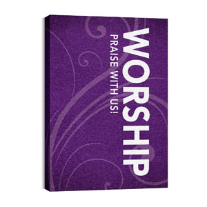Flourish Worship 24in x 36in Canvas Prints