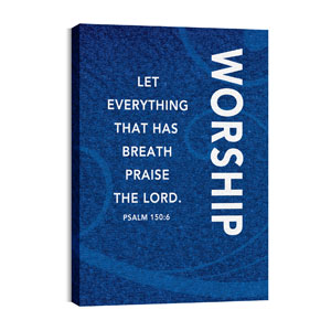 Flourish Worship Blue 24in x 36in Canvas Prints