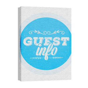 Guest Circles Info Blue Wall Art