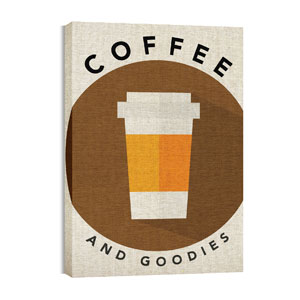 Burlap Coffee Wall Art