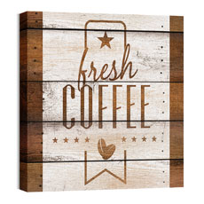 Barn Wood Coffee Wall Art