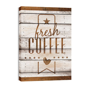 Barn Wood Coffee 24in x 36in Canvas Prints