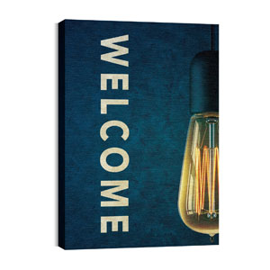 Retro Light Welcome Wall Art