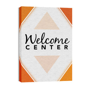 Welcome Diamond Orange Wall Art