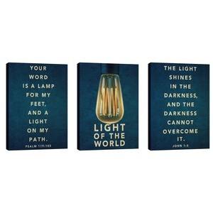 Retro Light Triptych Wall Art