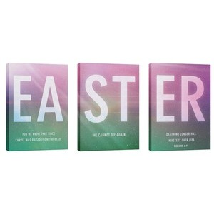Easter Color Triptych  Wall Art