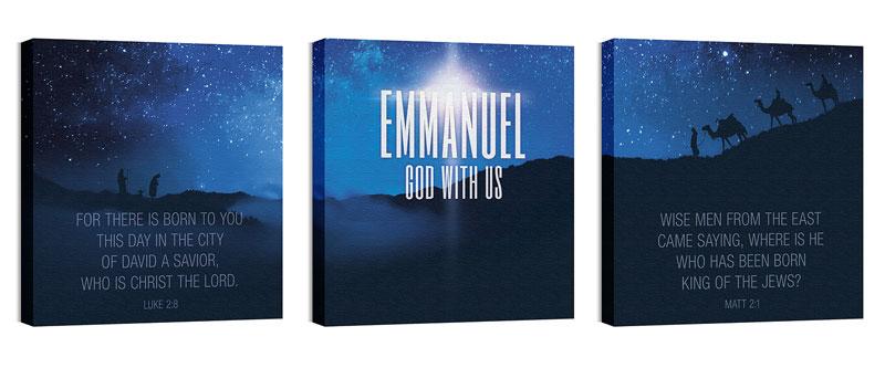 God With Us Canvas Print - Church Wall Art - Outreach Marketing