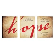 Hope Triptych Wall Art