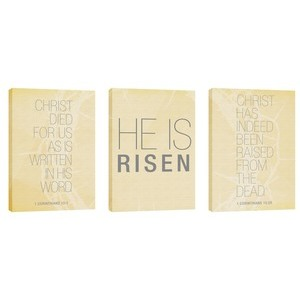 Risen Triptych  24in x 36in Canvas Prints